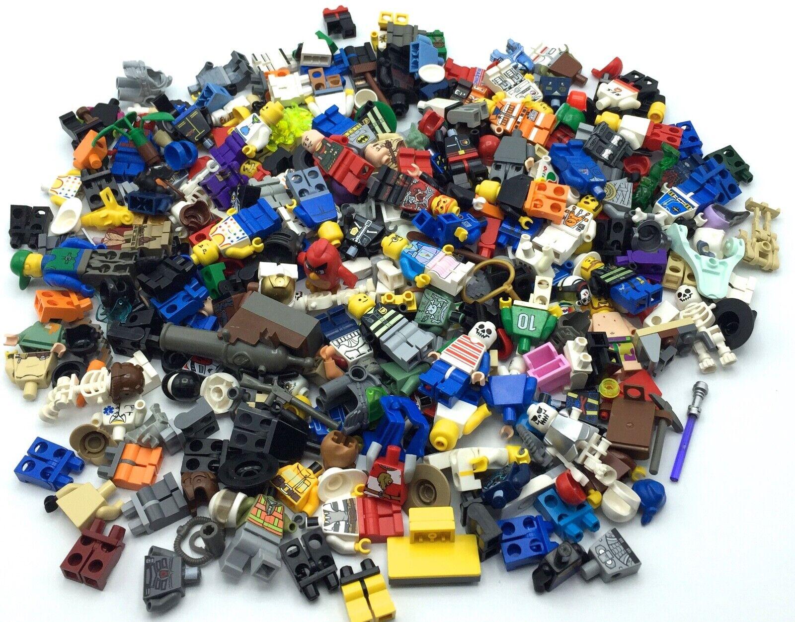 LEGO HUGE LOT NEAR 1 POUND MINIFIGURE PARTS BODY PIECES PEOPLE MIX 15+ OUNCES