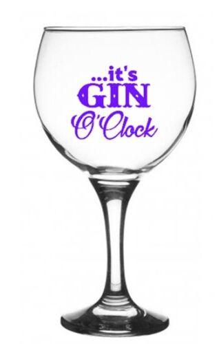Il est Gin O /'Clock Autocollant Vinyle Autocollant Pour Verre Vin