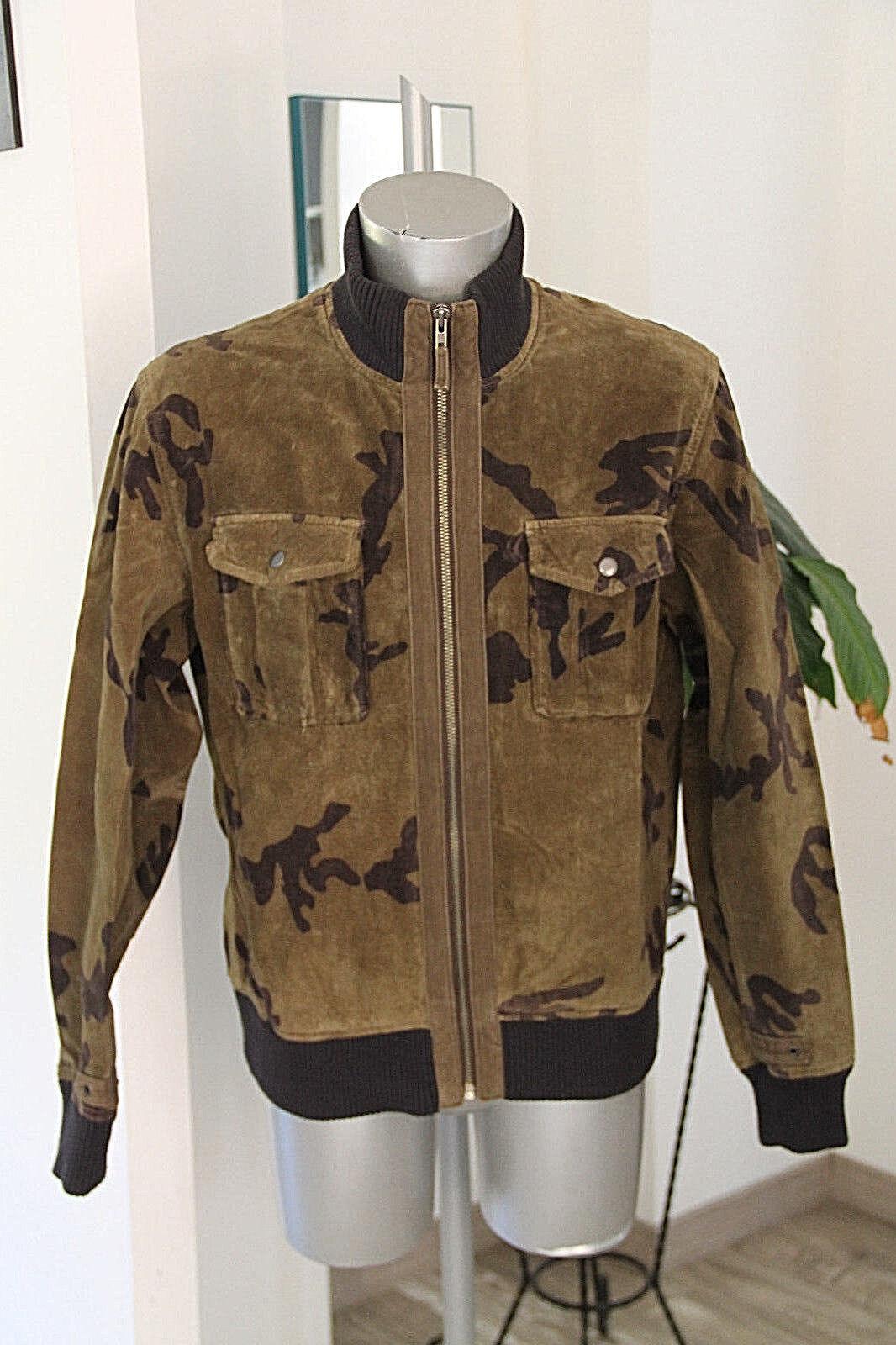 Bonito chaqueta de piel camuflaje hombre CHEVIGNON talla XL Muy buen estado