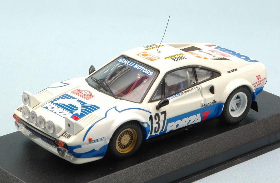 Ferrari 308  137 à la retraite (Accident) Monte Carlo 1982 Zamborlini 1 43 MODEL