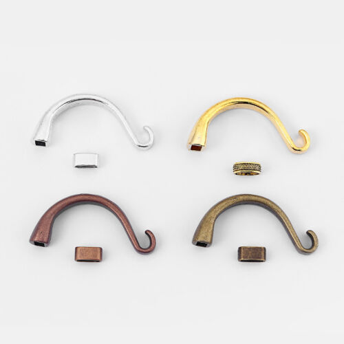 5 Sets Half Cuff Bracelet Findings Hook Clasp For 5mm Round Leather Cord