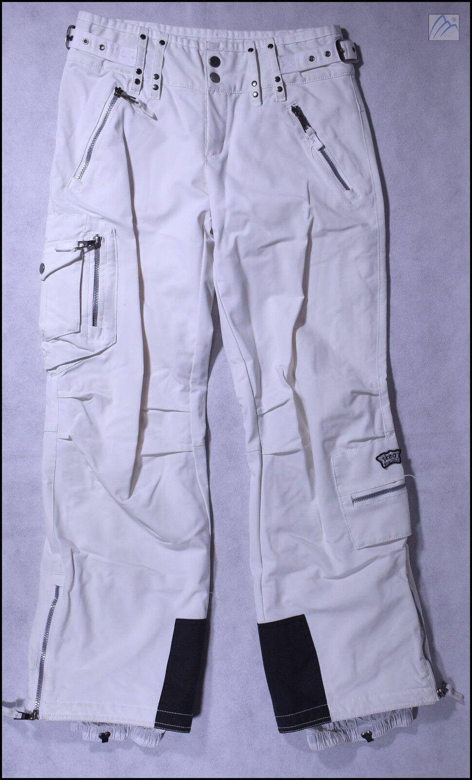 SKEA INSULATED SKI SNOWBOARD PANTS WOMENS US 4 WHITE