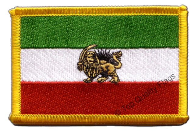 Iran Shahzeit Flag EMBROIDERED PATCH 8x6cm Badge