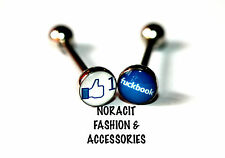 316l Surgical Steel *FBOOK ONE LIKE & F--KBOOK* Tongue Ring - TR210