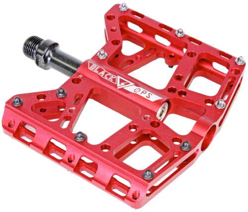 PEDALS BK-OPS TORQLITE UL CNC 9//16 BMX MTB XC DH FIXIE RED bicycle