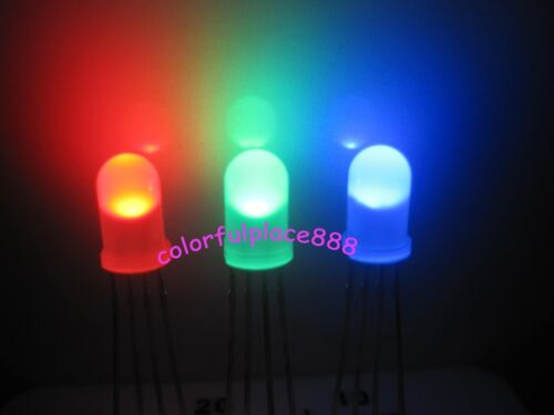 50 x 5mm 4-Pin Tri-Color RGB Diffused Common Anode Red Green Blue LED Leds Light