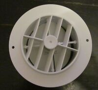 4 White Round Rotaire Grille Damper Heat Ac Outlet Register Vent 3840rwh Rv