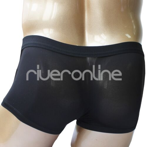Mens Boxer Briefs Shorts Open Penis Sheath Panties Thong Underwear Trunks Bikini