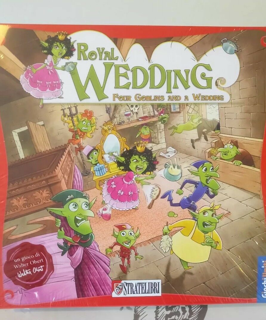 Royal Wedding Four Gobblins And A Wedding Board Game New and Sealed