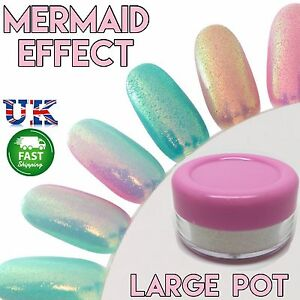 10g Large Pot Mermaid Effect Nails Art Powder Dust Iridescense Trend
