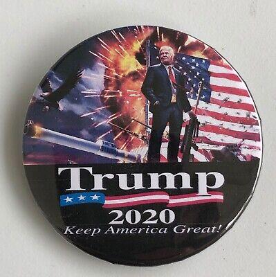 "DONALD TRUMP Button Pin Badge 2020-I/'m With Him-2 1//4/"" MAGA Keep America Great"