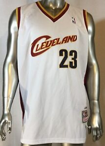 sneakers for cheap ff807 52944 Details about Mitchell and Ness LeBron James Authentic Jersey Cleveland  Cavaliers Hardwood