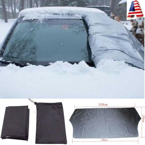 Premium Magnetic Windshield Snow Cover Sunshade 210x120cm