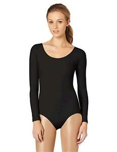 Capezio-Women-039-s-Long-Sleeve-Leotard-Black-Large-Black-Size-Large-sLda