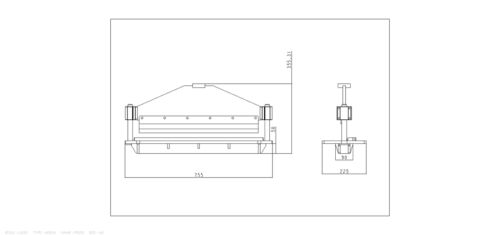"Press Brake attachment for hydraulic presses-metal folder bender 610mm//24/"" width"