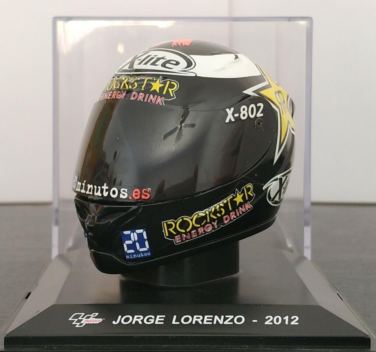 1 5 CASCO JORGE LORENZO 2012 HELMET COLECCION MOTO GP A ESCALA