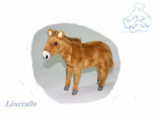 Hansa Brown Horse, Foal 5023 Plush Soft Toy Sold by Lincrafts Established 1993