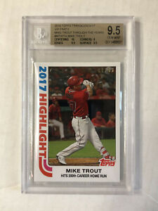 MIKE TROUT 2019 Topps Transcendent VIP SP 44/83! BGS GEM MINT 9.5! SUB 10! RARE!