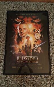 Star Wars Episode 1 The Phantom Menace 1999 Original Movie Poster Framed Ebay