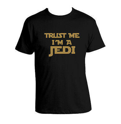 Funny T shirt Star wars inspired T shirt Trust Me I'm a Jedi T shirt Humor yoda
