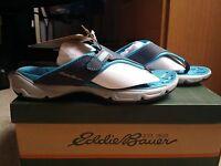 Nib-eddie Bauer Unify Navy Blue Sandals (size 5.5)