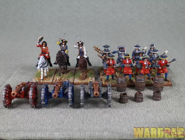 Guerra de sucesión española 1701-1714 Marlborough's Wars  r65 batería de artillería