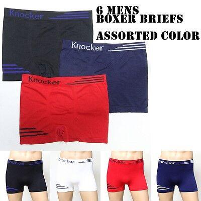 6 12 Mens Seamless Boxer Briefs Underwear Athletic Compression Knocker One Size