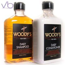 WOODY'S Quality Grooming For Men Daily Shampoo And Conditioner Set Paraben Free