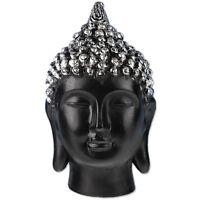 Statue En Résine Noire Bouddha 15 Cm