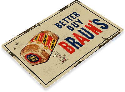 TIN SIGN Braun/'s Bread Metal Décor Art Kitchen Loaf Cottage Farm Store A815