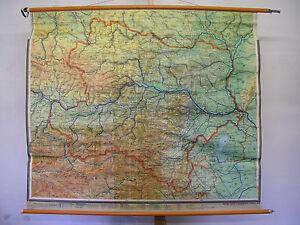 Karte Wien Niederosterreich.Details Zu Schulwandkarte Niederosterreich Osterreich Wien F B 1967 Karte Budweis 159x137cm