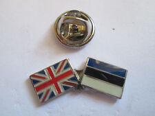 Estonia & Uk Friendship Enamel Metal Lapel Pin  -24 x 8mm   -  L077