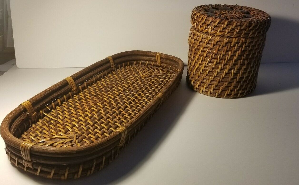 Bamboo Weave Tray and Container