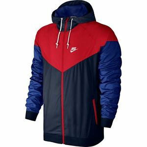 Nike Air Windrunner Jacket Navy Red White Obsidian Sz 2XL 727324-452