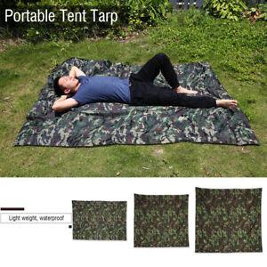 Portable-Bache-Anti-pluie-Anti-UV-Toile-de-Tente-Tarp-Abri-Camping-Camo