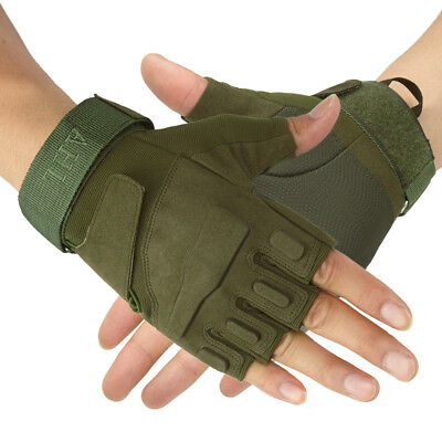 Unisex Gloves Half-finger Outdoor Motorcycle Bicycle Cycling Racing Breathable