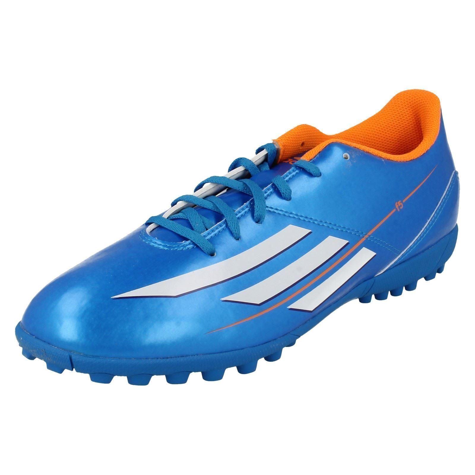 Adidas F32763  F5 TRX TF Mens bluee White Football Boots (R19B)
