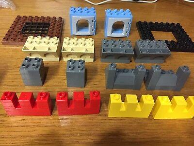 lego duplo castle knight gray white gray bricks arched parapet rampart rare