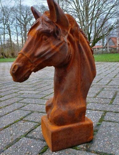 Pferdefreund Pferdekopf Gusseisen Pferd Reiter Pferdebüste Pferde,
