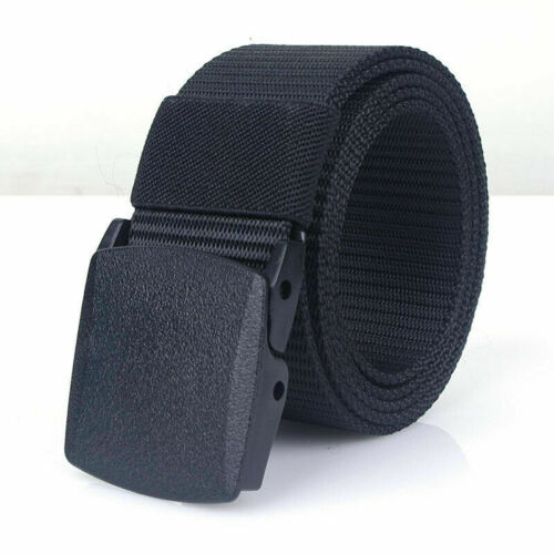 Mens Canvas Belt Military Tactical Waist Belt Nylon Buckle Webbing Waistband