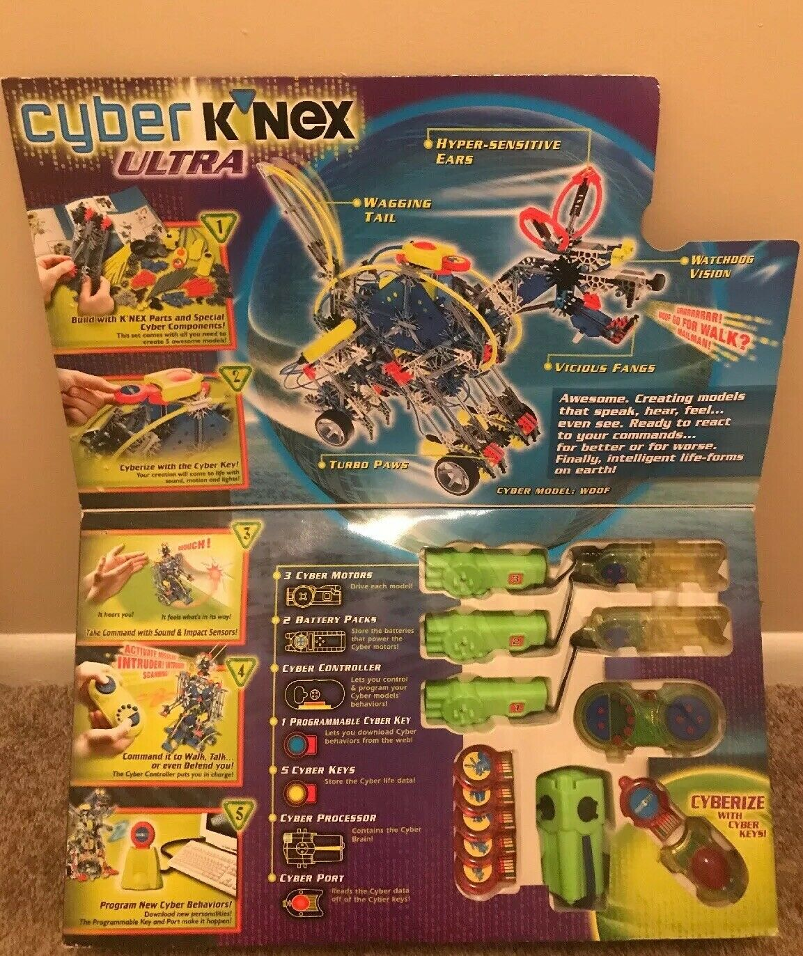 Cyber Knex Ultra Robot Kit Full Set In A Box With Manual NEVER OPENED