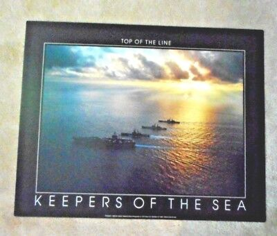 New Art Poster Fred Maroon Keepers of the Sea Top Line Military Destroyers 1989