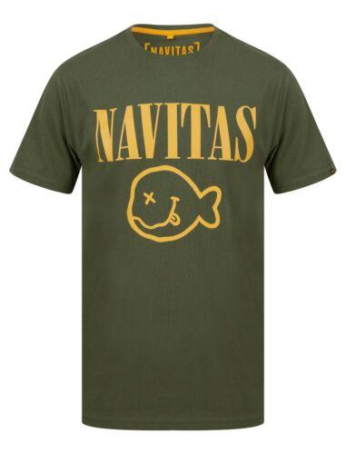 Carp Fishing Clothing New Navitas Apparel Kurt Tee T Shirt Green All Sizes