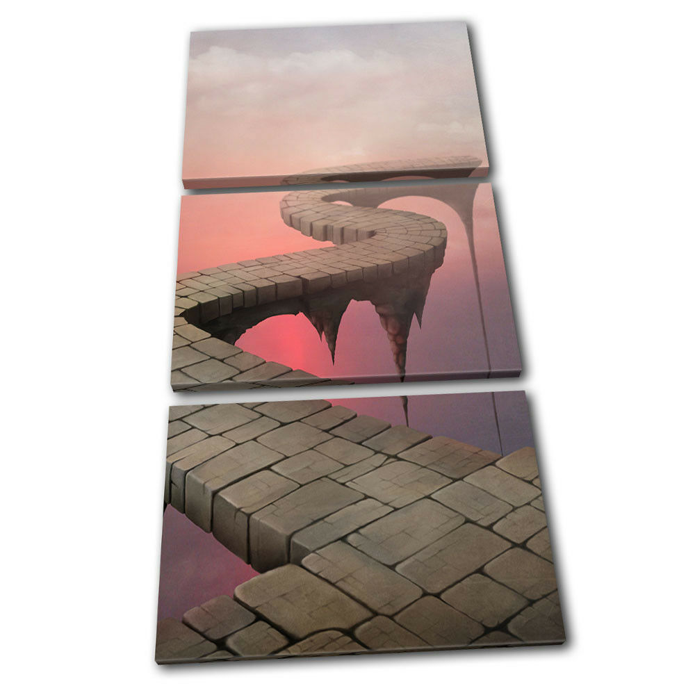Fantasy arte Bridge Pink/Brown Fantasy TREBLE LONA pared arte Fantasy Foto impresion f58fb7
