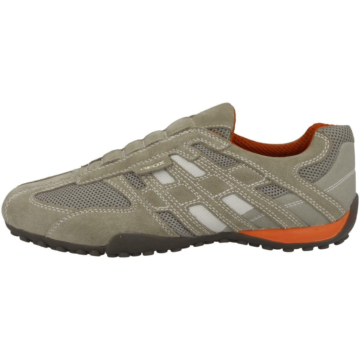 GEOX U Snake L Schuhe Herren Sneaker Halbschuhe beige orange U4207L02214C0845