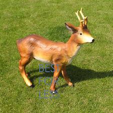 Hirsch Dekofigur Rehbock Silber Wild Tier Tierfigur Geweih Reh  Gartenfigur