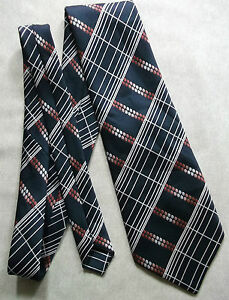 Industrieux Vintage Cravate Homme Large Cravate Rétro Fashion Bleu Marine-afficher Le Titre D'origine à Tout Prix