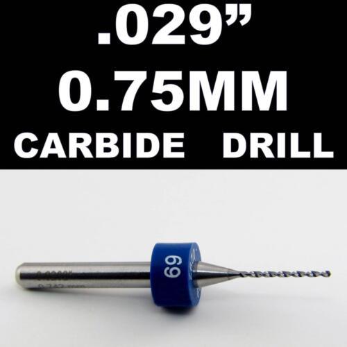 "Models Hobby PCB CNC Dremel R//S .029/"" 0.75mm #69 One Carbide Drill Bit"