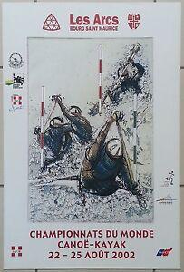 Les Arcs Bourg St Maurice- Canoé kayak 2002 - Affiche originale-poster Alain Bar sUPnLF4H-07154557-806508202