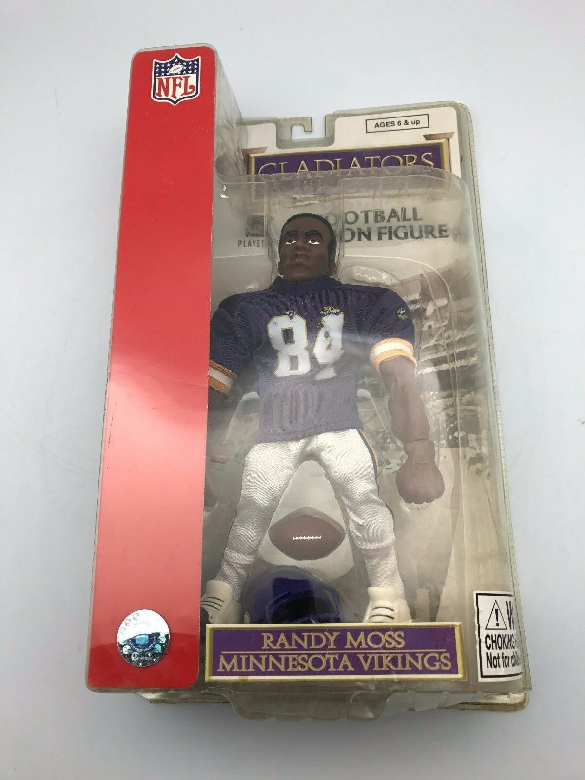 RANDY MOSS   2004 GLADIATORS OF THE GRIDIRON 9  ACTION FIGURE NEW VIKINGS